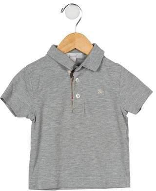 Burberry Boys' Nova Check-Trimmed Mélange Shirt