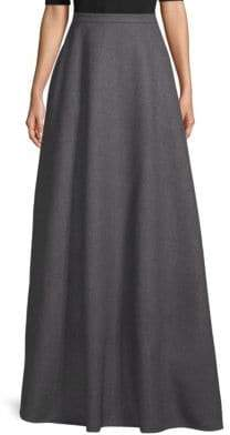 Valentino A-Line Wool Maxi Skirt