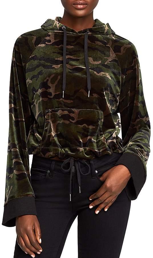 PAM & GELA Velvet Camo Hooded Sweatshirt