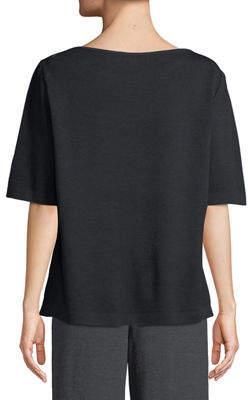 St. John Santana-Knit Jewel Neck Sweater