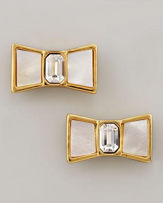 Kate Spade Bow Stud Earrings, Cream
