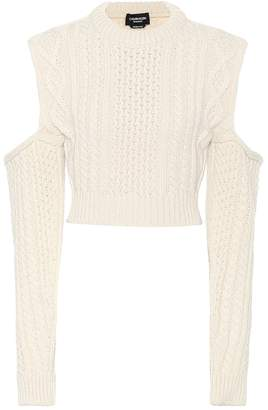 Calvin Klein Wool-blend cropped sweater