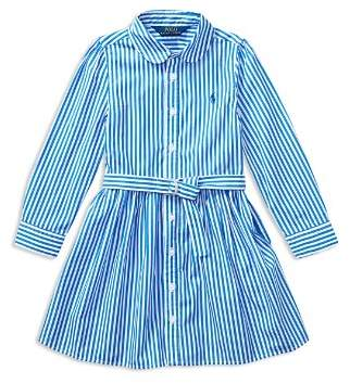 Ralph Lauren Girls' Bengal Stripe Shirtdress - Little Kid