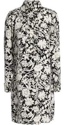 MICHAEL Michael Kors Printed Silk Mini Shirt Dress
