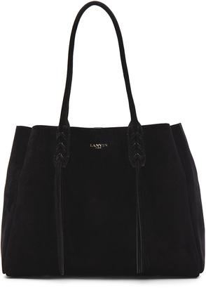Lanvin Small Suede Shopper Bag $1,495 thestylecure.com