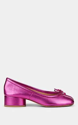 Maison Margiela Women's Tabi Metallic Leather Pumps - Pink