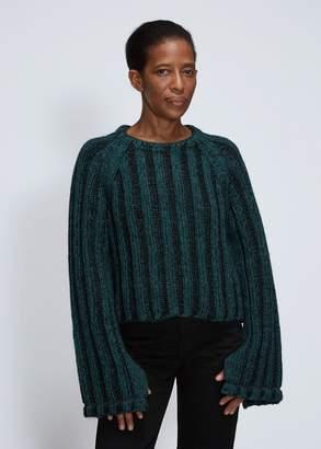 MM6 MAISON MARGIELA Crew Neck Cropped Sweater