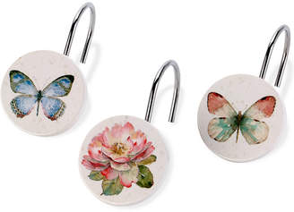 Avanti Butterfly Garden Shower Hooks Bedding