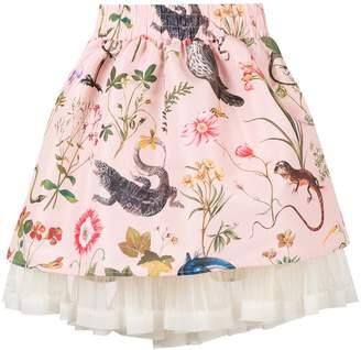 RED Valentino forest print full skirt