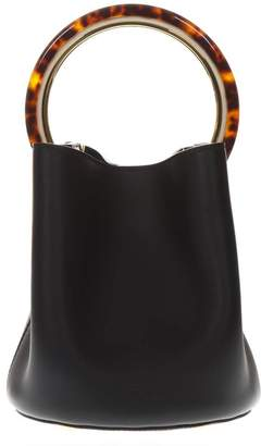 Marni Pannier Mini Black Leather Bag