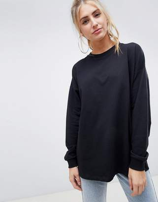Asos Design DESIGN oversized slouchy lightweight sweatshirt in black