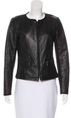 Lafayette 148 Leather Quilted Jacket