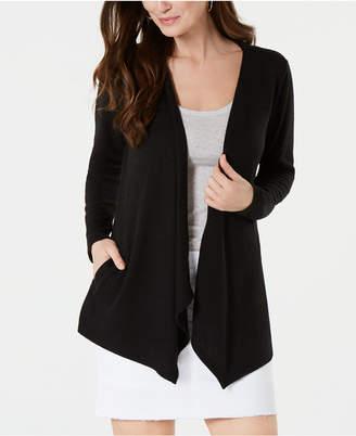 Style&Co. Style & Co Handkerchief-Hem Open-Front Cardigan