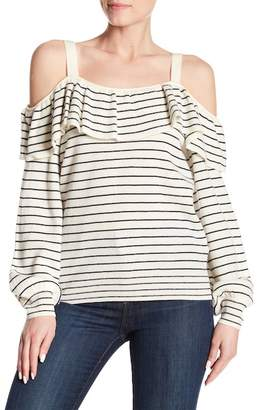 Joie Delbin Striped Cold Shoulder Wool & Cashmere Sweater