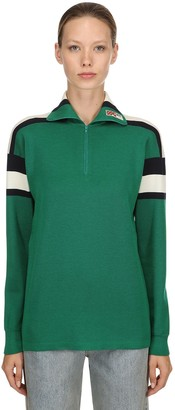 Gucci Wool, Silk & Cashmere Turtleneck Sweater