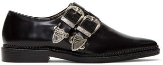 Toga Pulla Black Two-Buckle Western Oxfords
