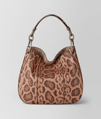 Bottega Veneta DAHLIA ANACONDA LOOP BAG