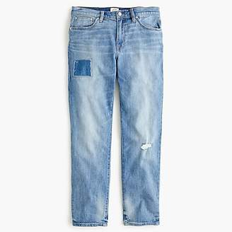J.Crew Petite Slim boyfriend jean with patch and distressing