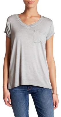 Cable & Gauge Washed V-Neck Tee (Petite) $50 thestylecure.com