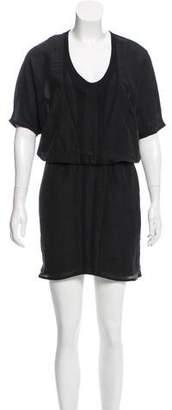 Helmut Lang Scoop Neck Mini Dress
