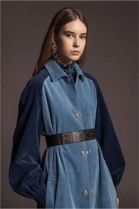 Sonia Rykiel Long Corduroy Coat