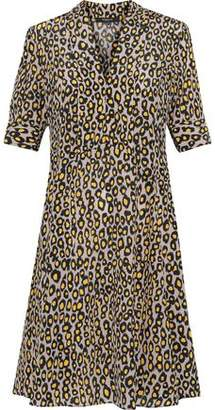 Derek Lam Leopard-Print Silk Crepe De Chine Shirt Dress