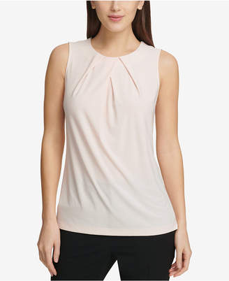 DKNY Pleat-Neck Shell, Created for Macy's