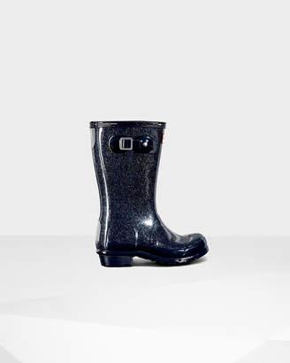 Hunter Kids' Glitter Finish Rain Boots