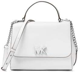 MICHAEL Michael Kors Mott Medium Leather Top Handle Satchel