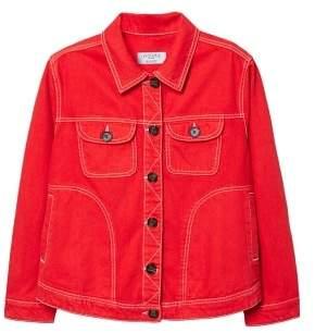 Violeta BY MANGO Contrasted seams denim jacket