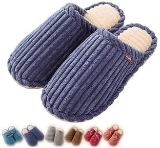 7ff6f7b5d89 Indoor Slippers Cozy Nonslip Memory Foam Lightweight Lining Plush Washable  Warm Cotton Home House Lijeer