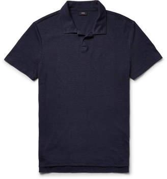 Onia Shaun Slim-Fit Linen-Blend Polo Shirt