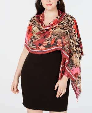 INC International Concepts I.n.c. Animal Floral Print Pashmina, Created for Macy's
