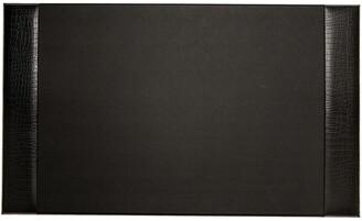 Bey-Berk Bey Berk Black Croco Leather 20X34 Desk Pad