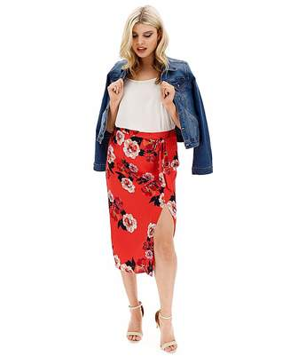 Oasis Funky Hand Curve Scarf Floral Skirt