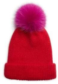 Eugenia Kim Maddox Knit Fox Fur Pom-Pom Hat