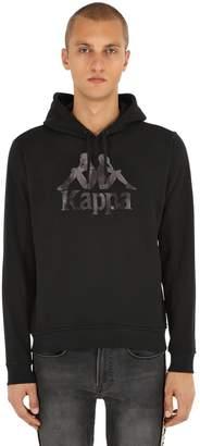 Kappa Logo Printed Cotton Sweatshirt Hoodie