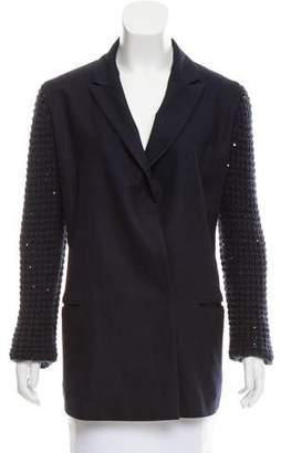 Brunello Cucinelli Sequin-Embellished Wool & Cashmere Blazer