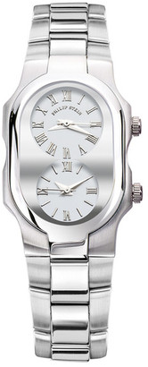 Philip Stein Women&s Stainless Steel Dual Time Watch $945 thestylecure.com