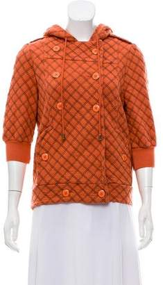 Marc by Marc Jacobs Short Sleeve Zip Up Sweater