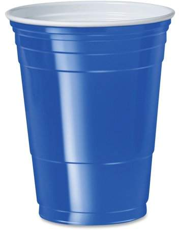 Solo Cup 16 oz. Plastic Cold Party Cups, Blue, 1000 / Carton (Quantity)