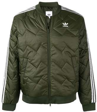 adidas quilted bomber jacket