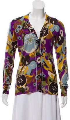 Tory Burch Abstract Print Cardigan