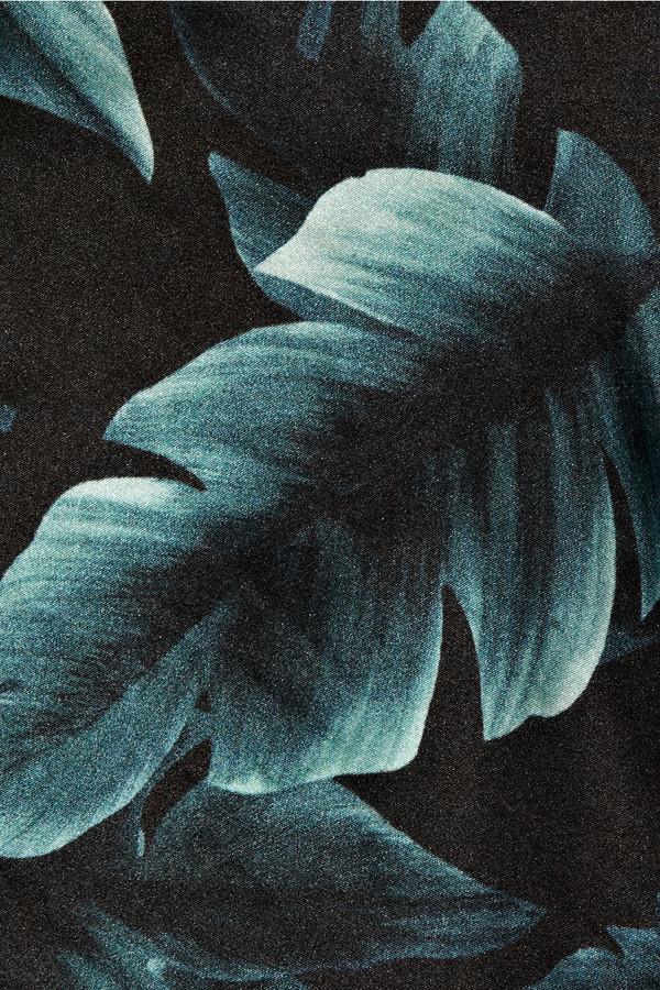 Lanvin Printed silk-satin one-shoulder top