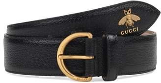 Gucci Bee Pendant Leather Belt
