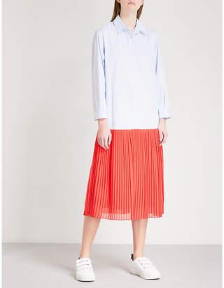 Sandro Striped cotton-blend dress