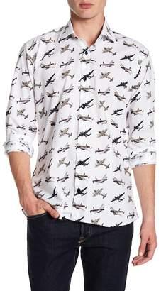 Jared Lang Jet Plane Pattern Shirt