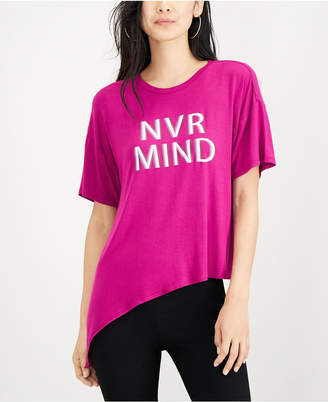 Material Girl Active Juniors' Tie-Waist Graphic T-Shirt, Created for Macy's