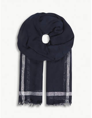Claudie Pierlot Metallic stripe scarf
