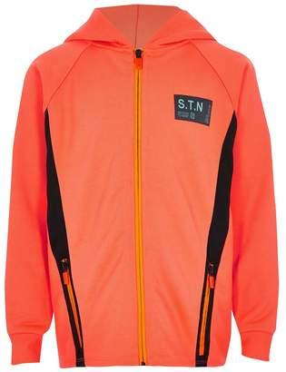 River Island Boys Orange Zip Through Jacket - Orange